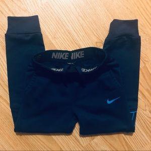 Nike logo  Dri-fit athletic pants navy/blue